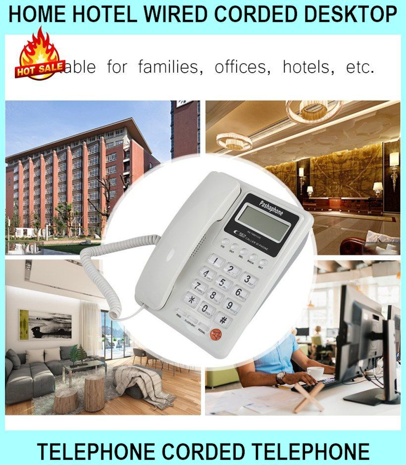 Home Hotel Wired Corded Desktop Telephone Corded Telephone