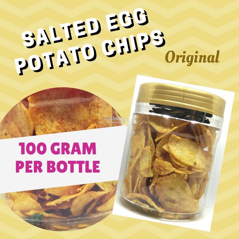 Home made Salted Egg Potato Chips set B, 100gram per bottle