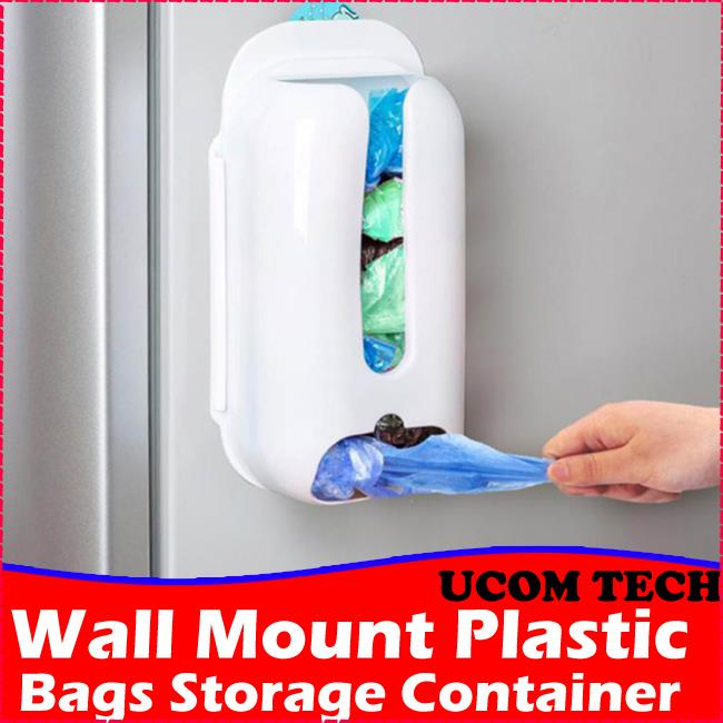Home Wall Mount Plastic Bag Storage Container Holder Plastic Bag