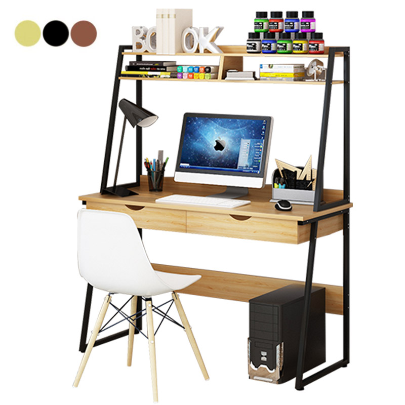 Home Writing Desk Laptop Table With Drawers Bookshelf A 5