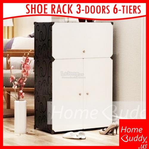 HomeBuddy DIY Shoe Rack / Shoe Cabinet (put up to 24pairs of shoes)