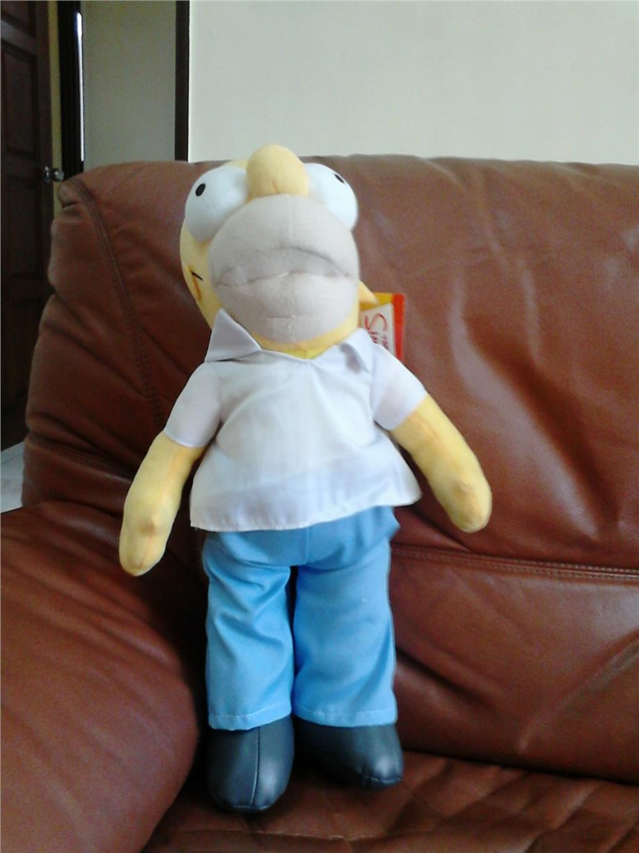 "homer simpson soft toy 20"" high"