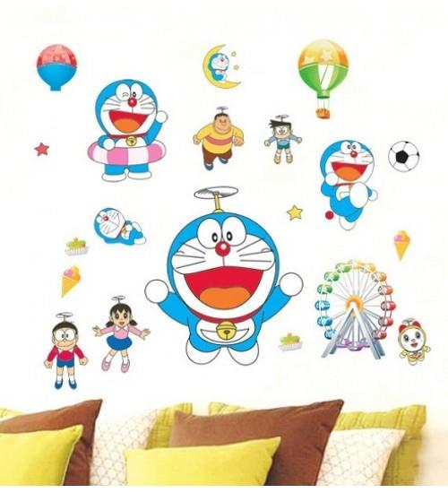 Homestay deco friendly decals unique design creative theme of doraemon
