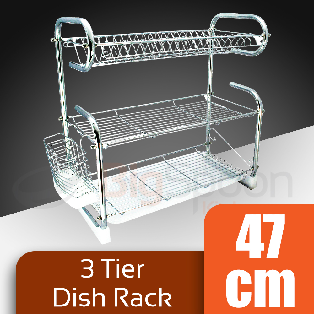 Homsuit Dish Rack Drainer 3 Tiers Th End 6 1 2021 12 00 Am