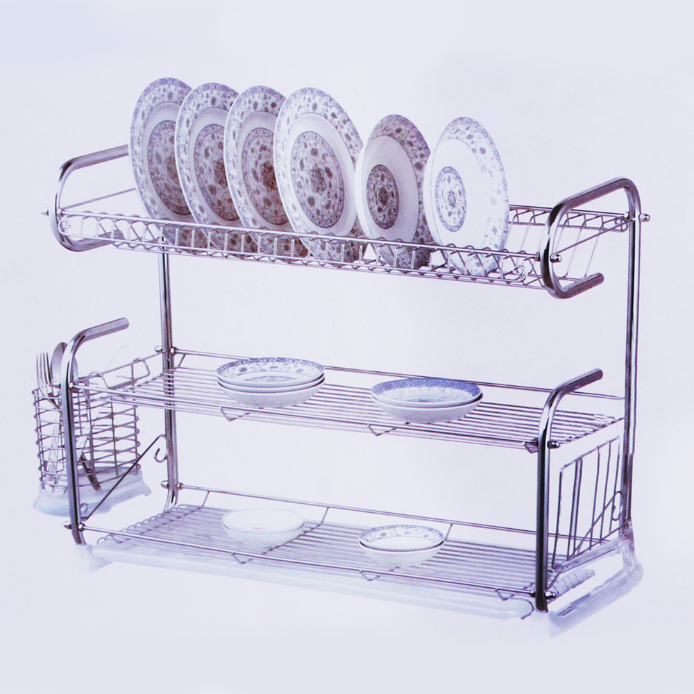 Dish Rack.Homsuit Dish Rack Drainer 3 Tiers Three Layer Stainless Steel Kitchen
