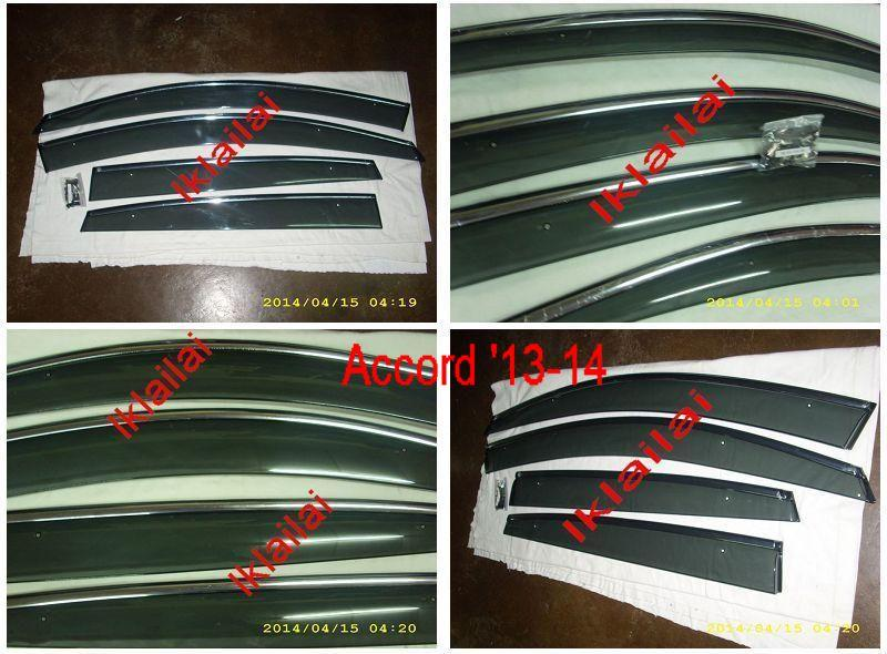 Honda Accord '03/'08 /'14 Injection Type Door Visor With Chrome Lining