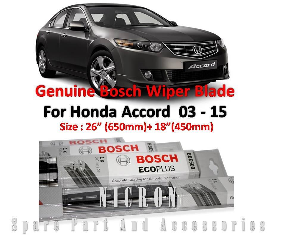 Honda Accord 03 15 (Size:26+18) Genuine Bosch Wiper Blade. U2039 U203a