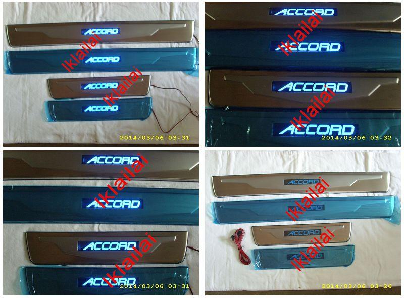 Honda ACCORD '03 2.4cc Door / Side Sill Plate With LED Light [4pcs/set