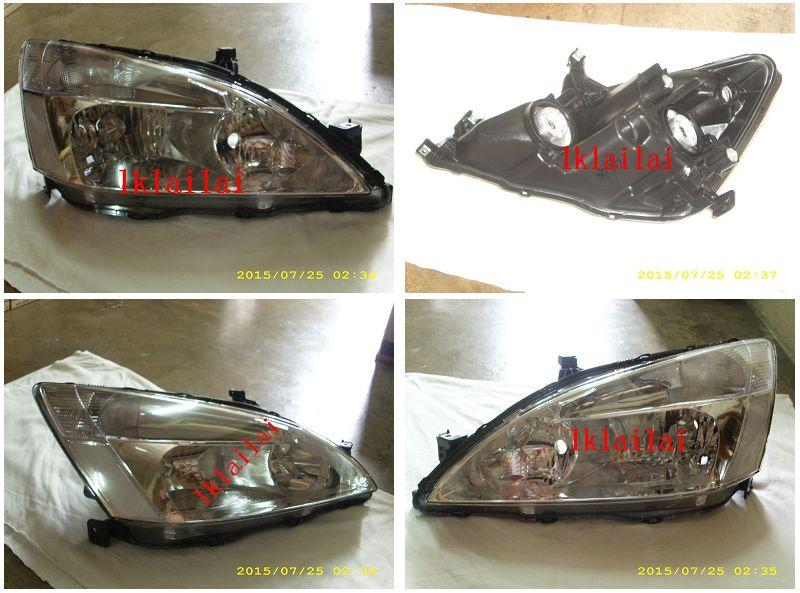 Honda Accord '03 Crystal Head Lamp Chrome