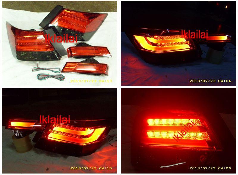 Honda Accord 08-12 LED Light Bar Tail Lamp +Bonnet Lamp Red-Smoke