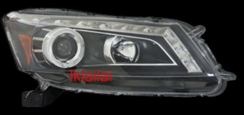 Honda Accord `08 Projector Head Lamp LED DRL R8 [Black/Chrome Housing]