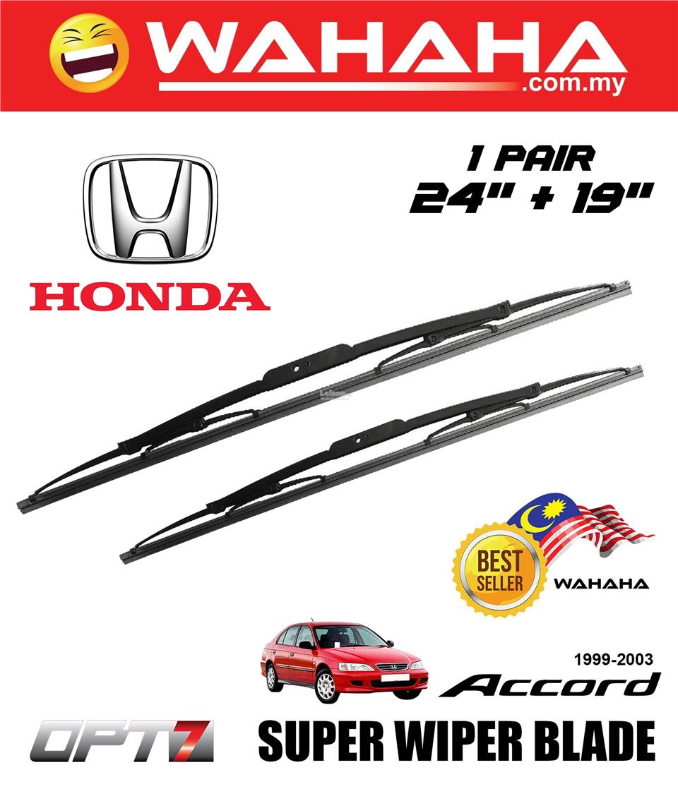 HONDA ACCORD 1999-2003 OPT7 Car Super Wiper Blade 24'+19'