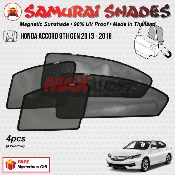9Th Gen Accord >> Honda Accord 9th Gen 2013 18 4pcs Samurai Shades Magnetic Sun Shades