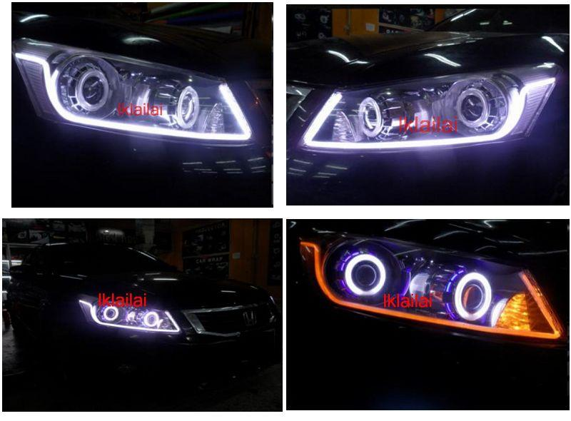 HONDA ACCORD Head Lamp  2-Function Eye Brown DRL [NO Head Lamp]