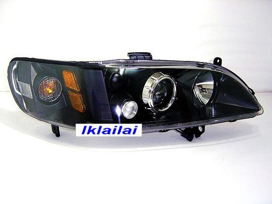 HONDA Accord S84/86 '98-'02 Crystal Projector Head Lamp Black Housing