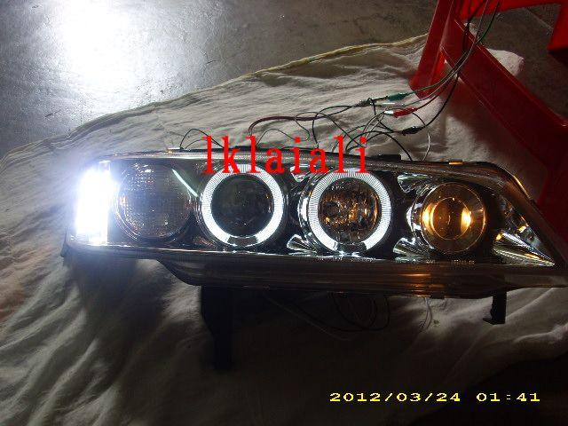 HONDA ACCORD SV4 '94-'97 Crystal Projector LED + Ring Head Lamp Chrome