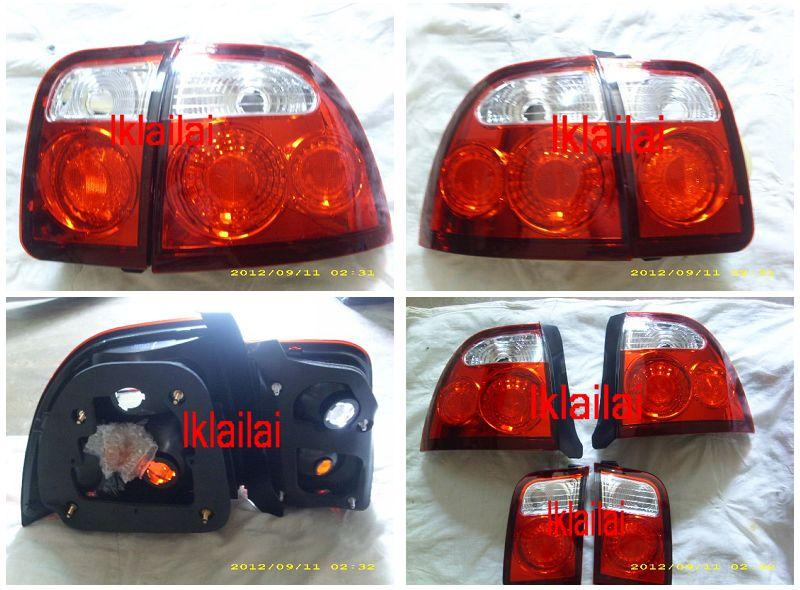 Honda Accord SV4 '96-'97 Tail Lamp Crystal Clear/Red [HD02-RL02-U]