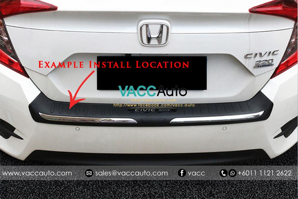 New Honda BR-V / BRV Rear Bumper Protector - Out (ABS)