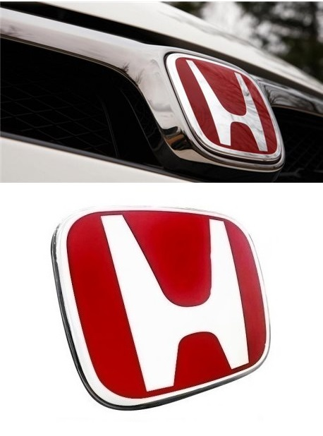 Honda BR-V Front and Back Red H EMBLEM Badge Logo (1 Pair)