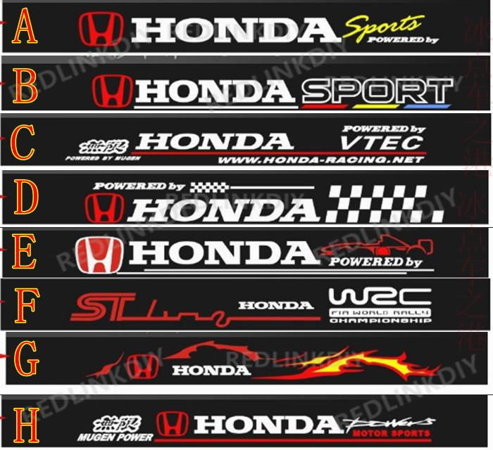 Honda car windshield sticker