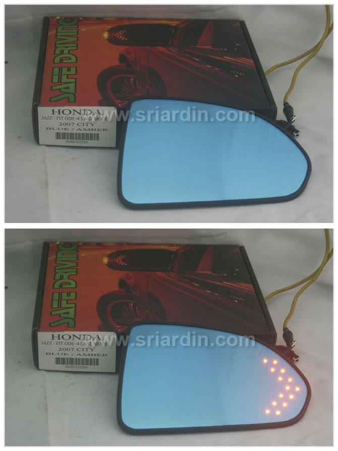 Honda City 03-07 Blue Side Mirror w LED Signal