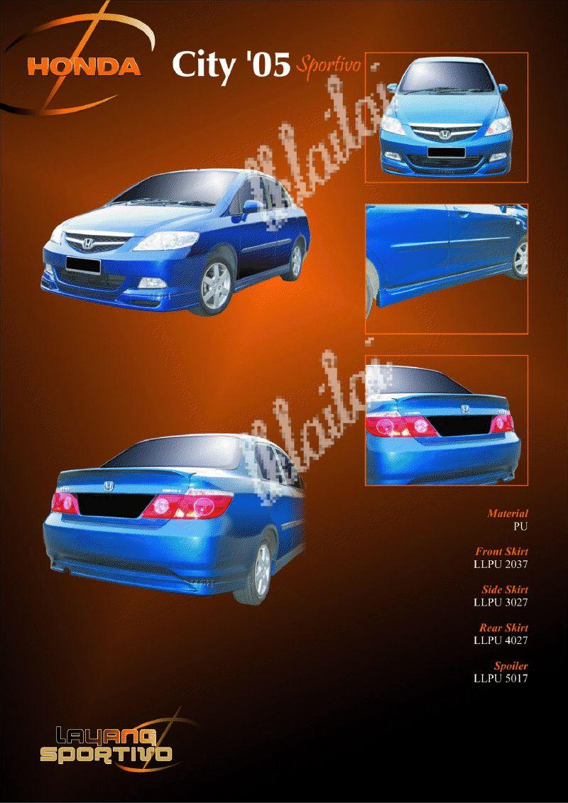 Honda City '06 Sportivo Style Full Set Body Kits [PU] Free Reverse Cam