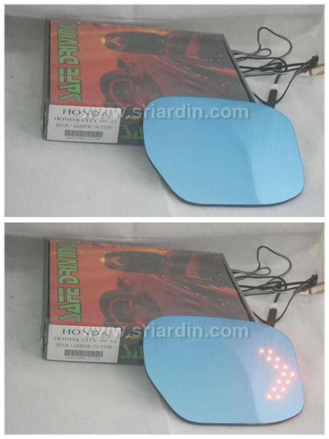 Honda City 08-13 Blue Side Mirror w LED Signal