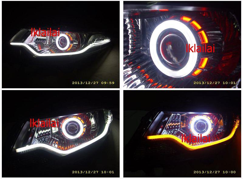 HONDA CITY 09 CCFL Ring + Angel Eye Projector Head Lamp 2-Function DRL