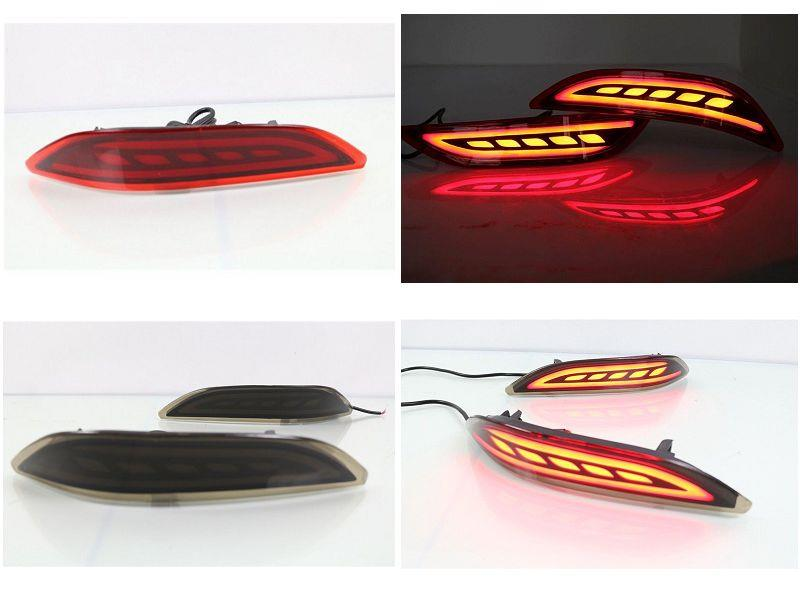 Honda City '14-15 Rear Bumper Reflector LED Light Bar [Red / Smoke]