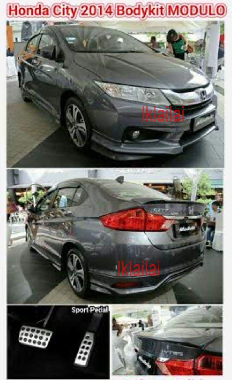 Honda City '14 Modulo Style Full Set Body Kit Free Sport Pedal