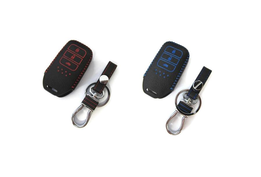 Honda City  & Accord 2014-2017 Hand-Sewn Leather Remote Key Cover Case