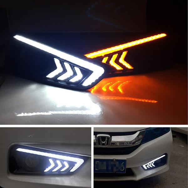 HONDA CITY GM6 2014 Arrow Style LED DRL Fog Lamp Cover with Signal