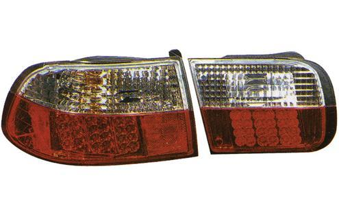 Honda Civic `92 SR/EG 4D/2D Tail Lamp Crystal LED Clear/Red