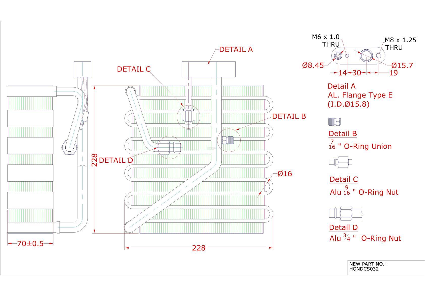 honda civic '94 '01 rhd air cond (end 6 12 2019 5 15 pm) 95 accord wiring diagram honda civic '94 '01 rhd air cond evaporator cooling coil