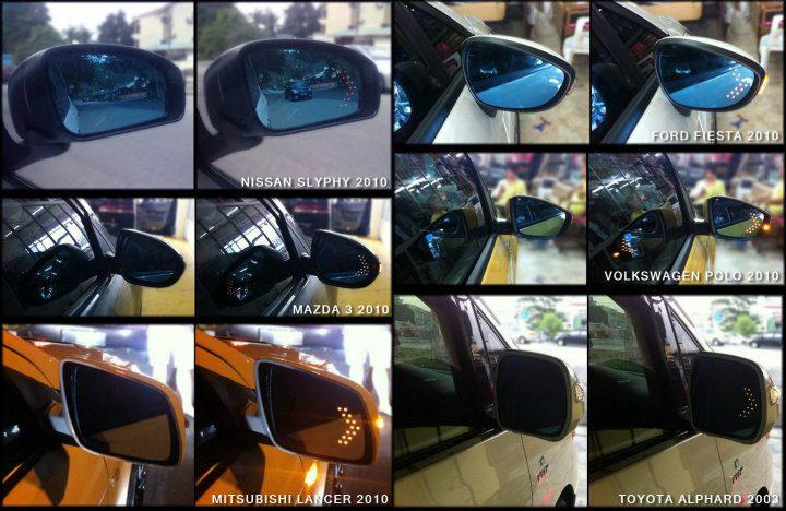 Honda Civic 96-99 Blue Side Mirror w LED Signal