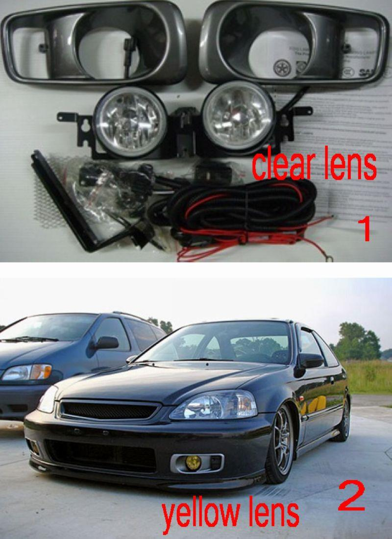 Honda Civic 99 00 Fog Lamp With Wiri End 12 3 2018 155 Pm Wiring Switch Clear Yellow Lens