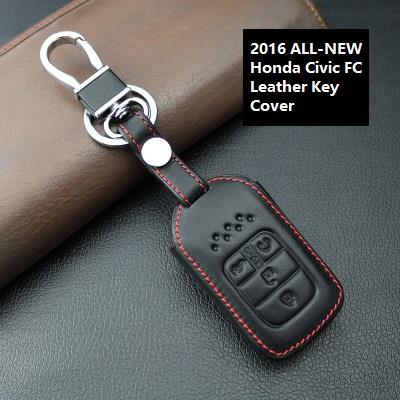 Honda Civic FC 10th-Gen 2016-17 Keyless Remote Leather Key Case Cover