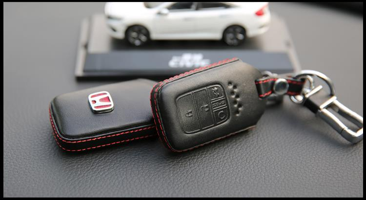 Honda Civic FC 10th-Gen 2016 17 Type R Keyless Remote Leather Key Case