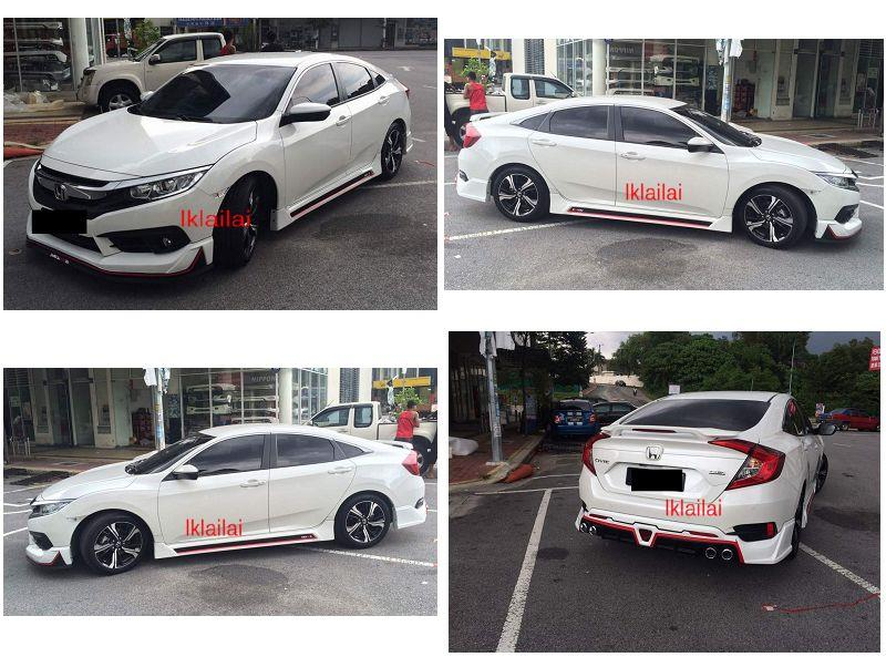Honda Civic FC '16 Storm Plus Full Set Body Kit ABS Material Painted