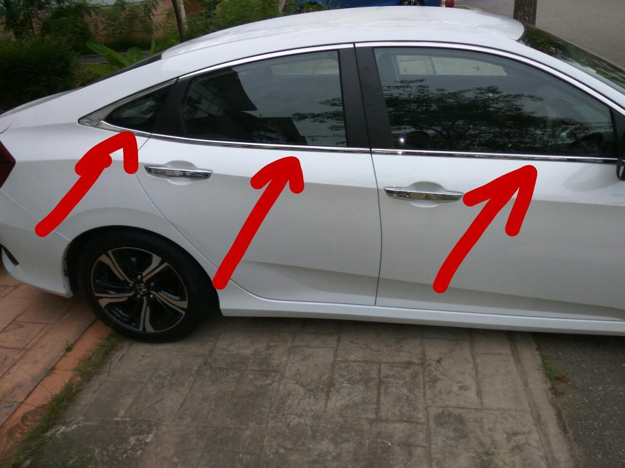 Honda Civic FC 2016-2018 Chrome Window Lining Trim
