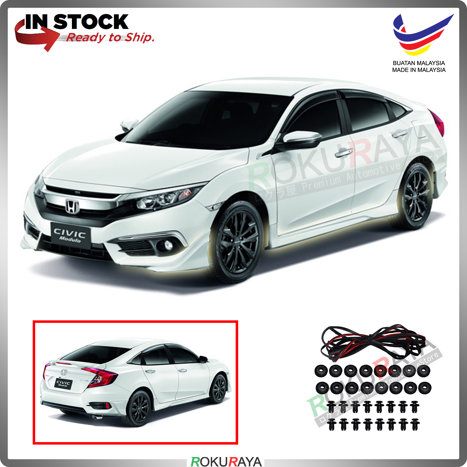 Honda Civic FC 2016 ABS Bodykit Front Side Rear Skirting Modulo