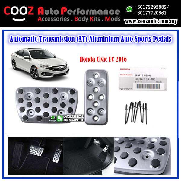 Honda Civic Fc 2016 Automatic Transmission (AT) Aluminium Pedals