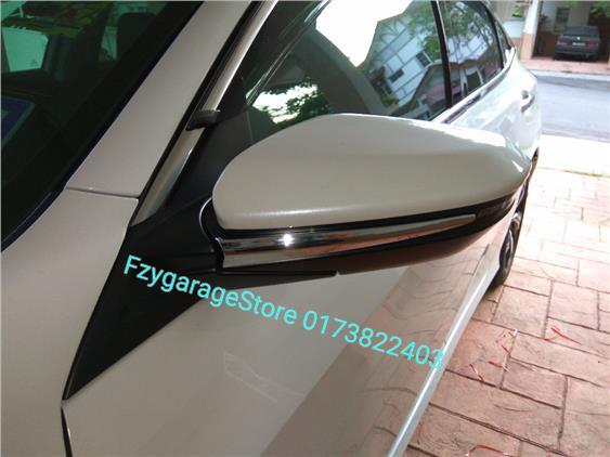 Honda Civic FC 2016 Side Mirror Chrome Trim Cover. U2039 U203a