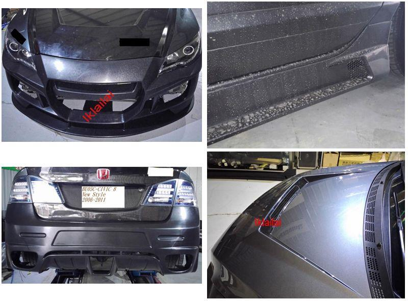 Honda Civic FD '06 [CRZ Look] Front+Rear+Side+Hood Bonnet Body Kit PP