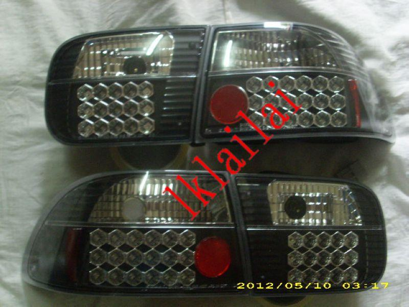 Honda Civic SR/EG '92-95 4D/3D/2D Full LED Tail Lamp Black Housing