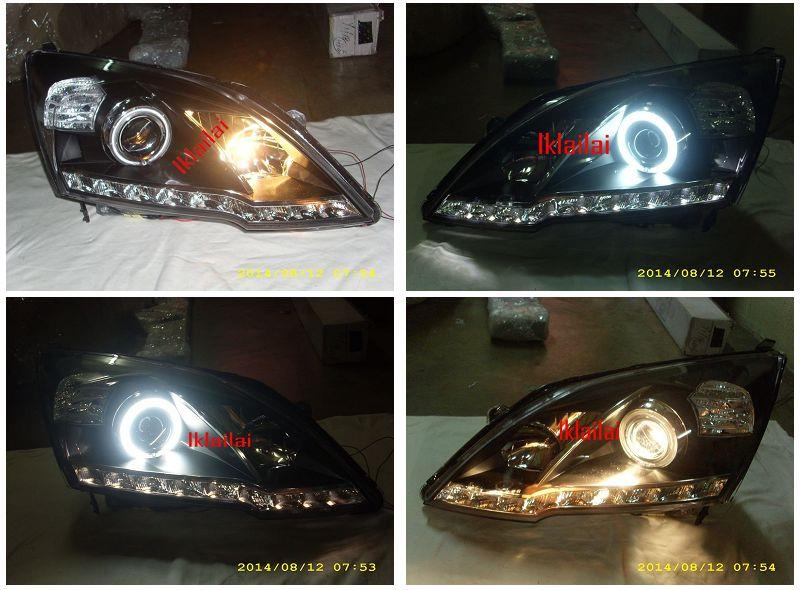 HONDA CRV '07-10 CCFL Ring Projector Head Lamp LED DRL R8 [1-pair]