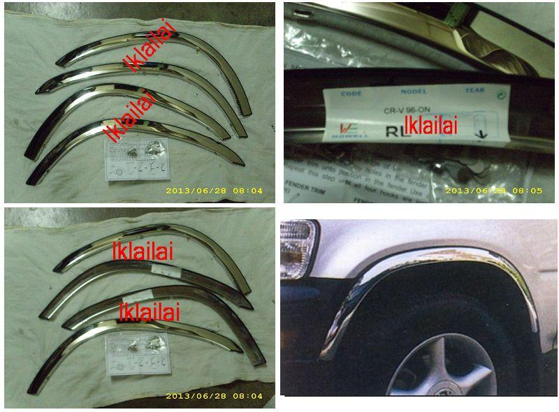 Honda CRV `97-`00 Fender Trim Chrome S/Steel [4pcs/set] [HD20-FT01-U]