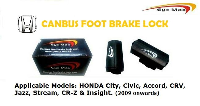 Honda CRV Jazz Stream Insight OBD Foot Brake Lock (Plug & Play)