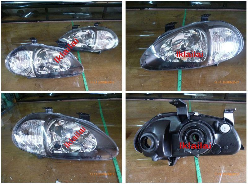 HONDA CRX EG2 DELSOL Crystal Head Lamp Black