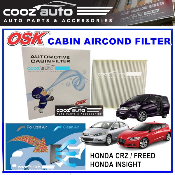 Honda CRZ Freed Insight OSK Cabin Aircond Replacement Filter